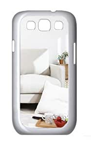 Comfortable Sofas Custom Hard Back Case Samsung Galaxy S3 SIII I9300 Case Cover - Polycarbonate - White