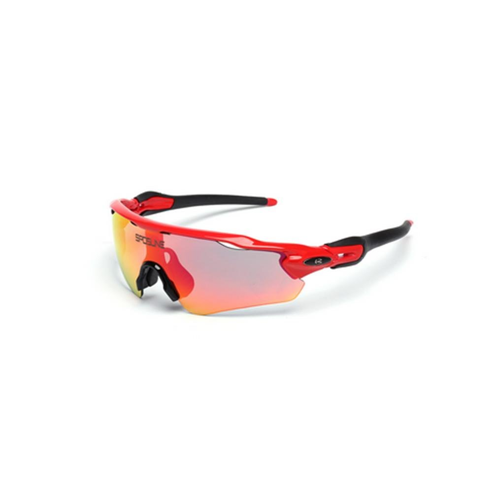 DZW Reiten im Freien Sonne polarisierte Brille Brille Sport Wind Sand Spiegel Myopie Berg Autospiegel , ROT and schwarz