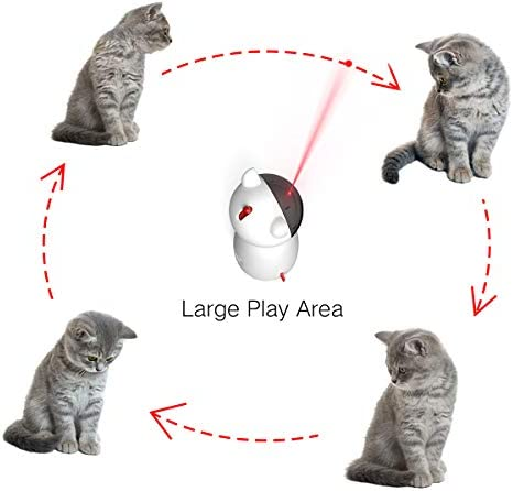 goopow Cat Laser Toy Automatic,Interactive Toy for Kitten Dogs,USB Charging/Battery Powered, Placing High,5 Random Pattern,Automatic On/Off and Silent, Fast/Slow Light Flashing Mode 3