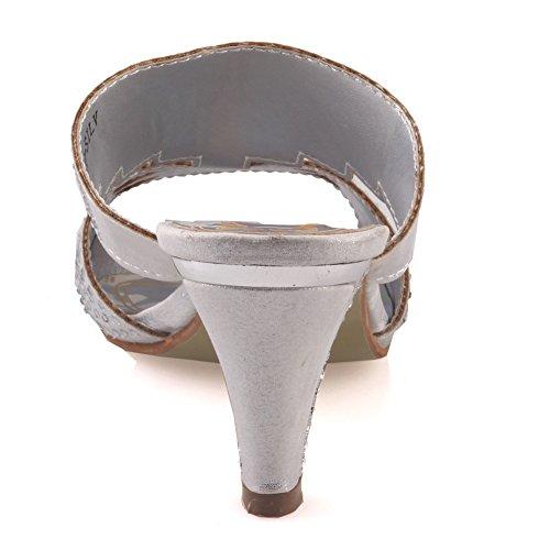 Unze Für Frauen Carson  Wedge Mode Sandalen - 9192-1B Silber
