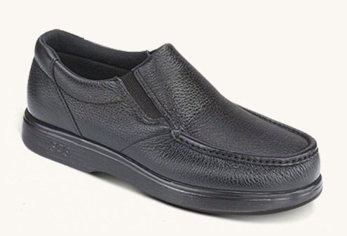 San Antonio shoe SAS Men's, Sidegore Slip on Shoes Black 13 W (Gore Panel)