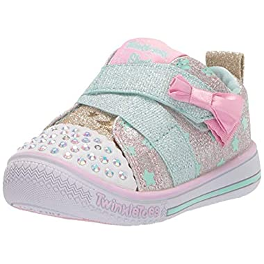731e0d5568a1 Skechers NWT Toddler Girl 5 6 7 8 9 11 Light Up Twinkle Toes Shoes Daisy  Days ...