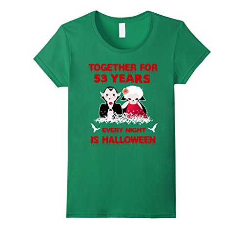 Womens Funny Halloween Costume For Partners. 53rd Anniversary Gift. Medium Kelly Green