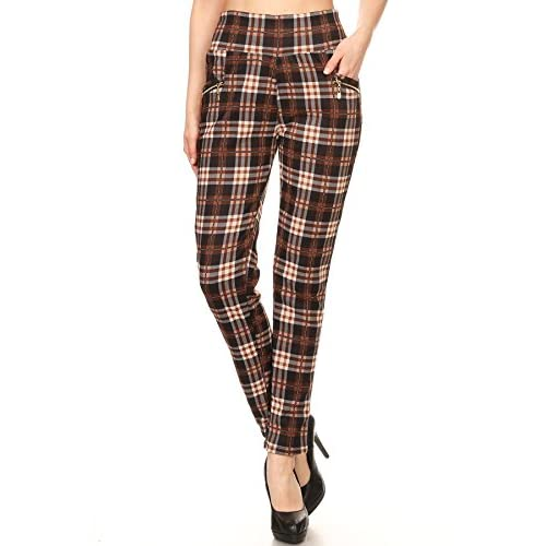 Hot 2ND DATE Women's Fur Lined Plaid Leggings Pants - One Size for sale