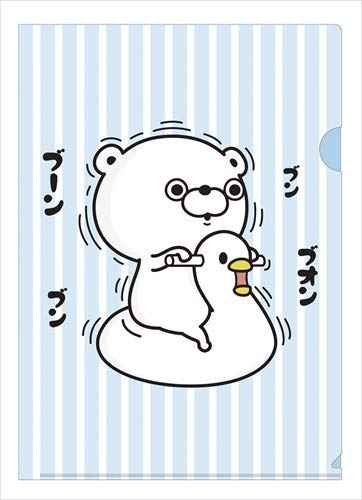 Yoshi Stamp A4 Single Clear File/Duck - Free Duck Stamp