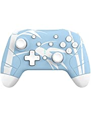 Wireless Switch Controller, Mytrix Wireless Controllers for Nintendo Switch/Lite, Enhanced Pro Controller Remote with Auto-Fire Turbo, Motion Control, Three Levels Adjustable Vibration, Bamboo Blue