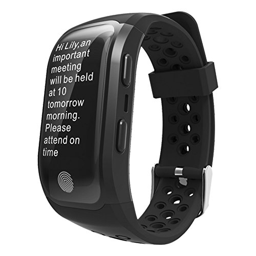 Gentman Fitness Activity Tracker, S908 Sport Smart Wristband Heart Rate Monitor Pedometer Sedentary Reminder GPS IP68 Waterproof Smart Bracelet for iOS Android Phone