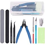 Keadic 9Pcs Gundam Model Tools Kit Hobby Building Tools Craft Set for Basic Model Building, Repairing and Fixing