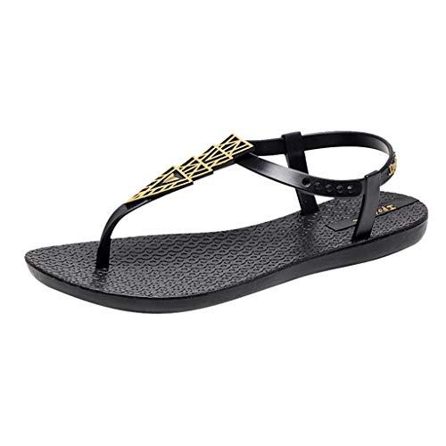 YKARITIANNA Shoes Female Summer Flat with Flat Casual Shoes Sandals Female Beach Shoes 2019 Summer Black