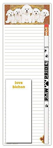 Bichon Frise Notepad - Bichon Frise Notepad & Pencil Gift Set