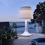 LED Solar Table Lamp Outdoor Indoor Desk Lamp White Night Lights Garden Patio Solar Table Lights, Auto ON/Off, 2 Lighting Modes