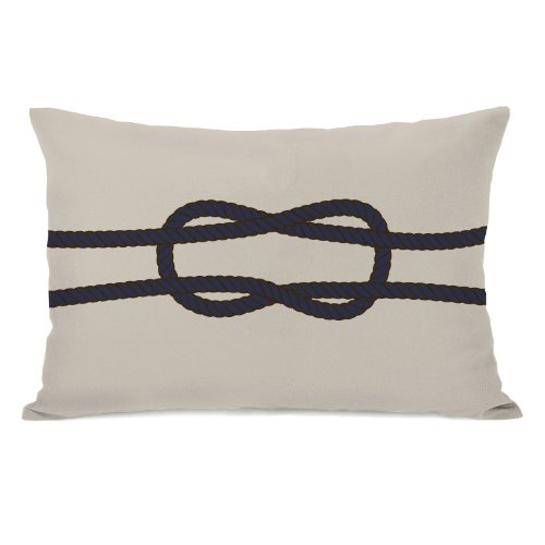 Bella Square Pillow - One Bella Casa Square Knot Throw Pillow by OBC, 14