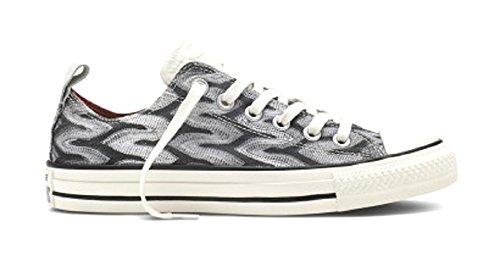 Converse A/S Prem Ox Missoni - Zapatillas Unisex adulto Blanco-Gris-Negro