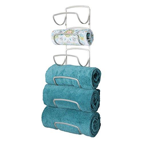 ative Six Level Bathroom Towel Rack Holder & Organizer, Wall Mount - for Storage of Bath Towels, Washcloths, Hand Towels - Satin ()