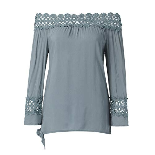 top Camicette Party Top unita tinta Grigio tops l'estate S per 3xl Donna in Beikoard 4pdBBq