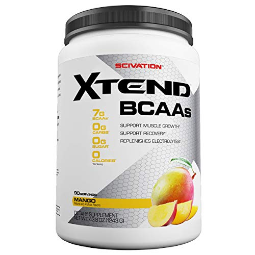 Scivation Xtend BCAA Powder, Branched Chain Amino Acids, BCAAs, Mango, 90 Servings by Scivation (Image #1)