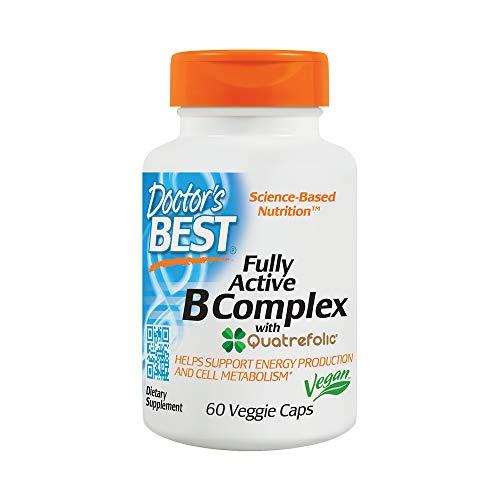 Doctor's Best Fully Active B Complex Vegan Capsules, 60Count (Doctor's Best B Complex)