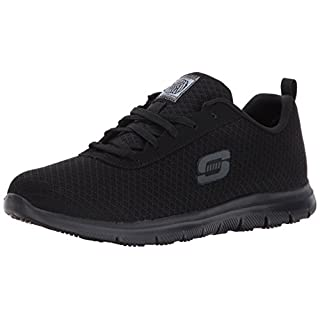 Skechers Work Ghenter - Bronaugh Black Mesh/Water/Stain Repellent Treatment 6