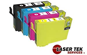 Laser Tek Services Remanufactured Ink Cartridge Replacement for Epson T127 (Black, Cyan, Magenta, Yellow, 4-Pack)