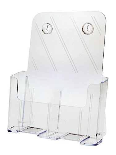 National Display Warehouse Tk 8.5 Ci Slant Back Counter Top Wall Mount Brochure Holder - Pack of 13 by Beemak Plastics