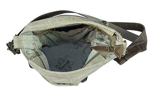 Sunsa Borse da Donna Vintage Borse a tracolla Borsette in Canvas / Telo olona con pelle 51776
