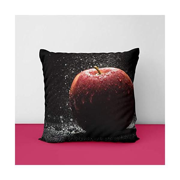 410UGort 3L Fresh Apple Square Design Printed Cushion Cover