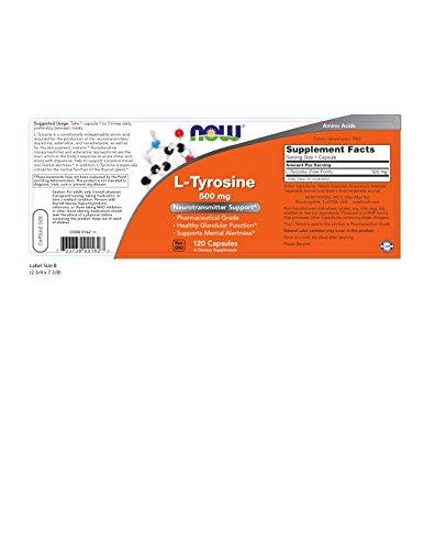 L-Tyrosine 500 mg 120 Capsules (Pack of 2)