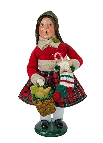 Byers' Choice Girl with Gingerbread Caroler Figurine 4463D from The Christmas Market - Byers Girl Choice