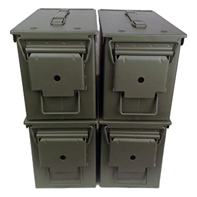 4-pack Mil Spec 50 Cal M2A1 Empty Ammo Cans New, Unstenciled