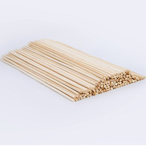 4 Mm Stick (CHuangQi Natural Bamboo Skewers (Pack of 150,4mm,12-Inch) for BBQ, Shish Kabobs,Appetizers)