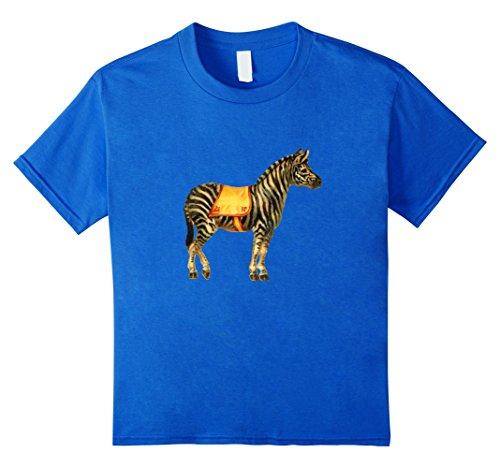 unisex-child Vintage Retro Circus Shirt: Zebra Emoticon Graphic T-shirt 10 Royal - Zebra 10 Retro