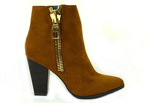 Block Boots Worker UP 8 Tan Biker Flat Chelsea Womens Combat LACE Cowboy Shoes 3 5 Heel 6 4 7 Distressed Size Ladies 413al9952 Zip Riding Ankle wqvZgYCx7x