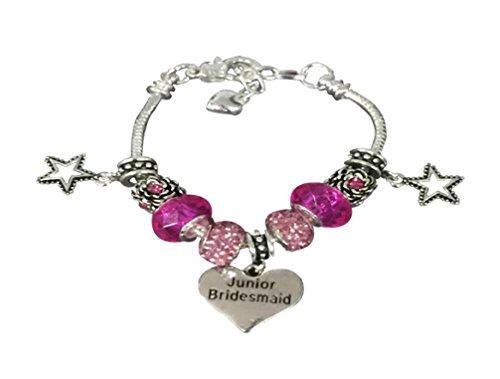 Junior Bridesmaid Bracelet, Junior Bridesmaid Jewelry- Charm Bridesmaid Bracelet, Gift For Junior Bridesmaids -