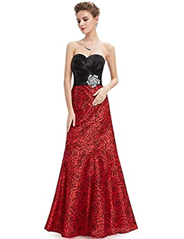 HE09727RD06, Red, 4US, Ever Pretty Ladies Prom Dresses 2014 Long 09727