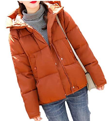 Di Le Giù Trapuntato Sicurezza Donne Arancione Parka Cappotto Inverno In Cotone Il Caldo A4B1xwnd