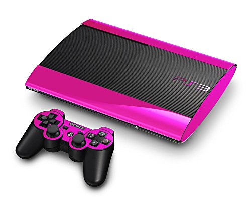 Sony PlayStation 3 Super Slim Skin (3rd Gen) - NEW - PINK CHROME MIRROR system skins faceplate decal mod