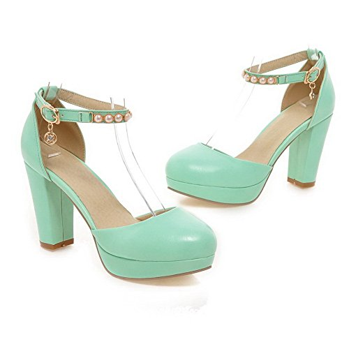 AdeeSu Womens Firm-Ground High-Heel Outdoor Urethane Sandals SLC03811 Green 2BRlWAGy
