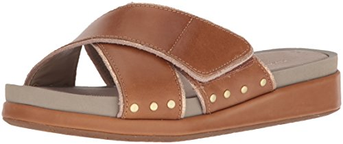 Women's Sandals Chrysta Tan Fashion Hush Slide Puppies Leather Xband PqBp5F