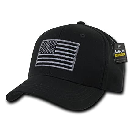 074face81bf Amazon.com  RAPDOM Tactical T76-USA-BLK Embroidered Operator Cap ...