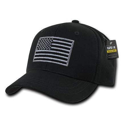 Amazon.com  RAPDOM Tactical T76-USA-BLK Embroidered Operator Cap ... 456a32e8526a