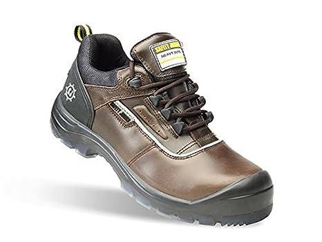 Dark Brown//Black SAFETY JOGGER PLUTO Men Safety Toe Lightweight EH PR Water Resistant Shoe M 8.5