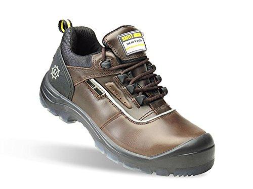 SAFETY JOGGER PLUTO Men Safety Toe Lightweight EH PR Water Resistant Shoe, M 8.5, Dark Brown/Black
