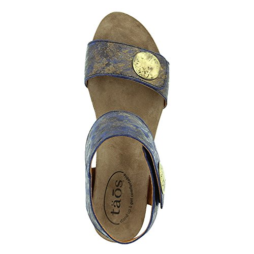 Women's Carousel Teal Leather Taos Wedge Sandal UIdYqdw5