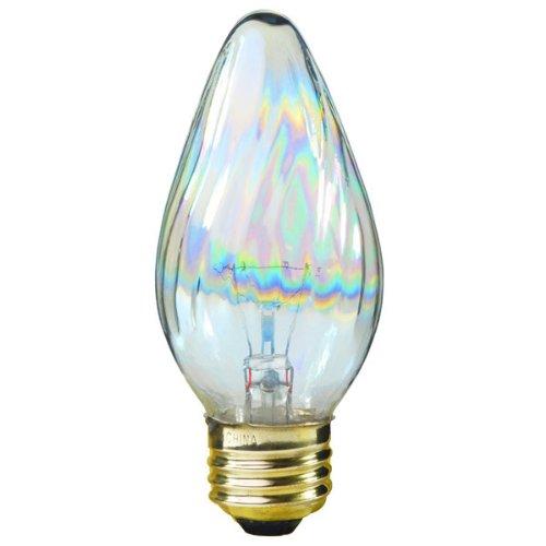 Satco S3365 120V Medium Base 25-Watt F15 Light Bulb, Aurora