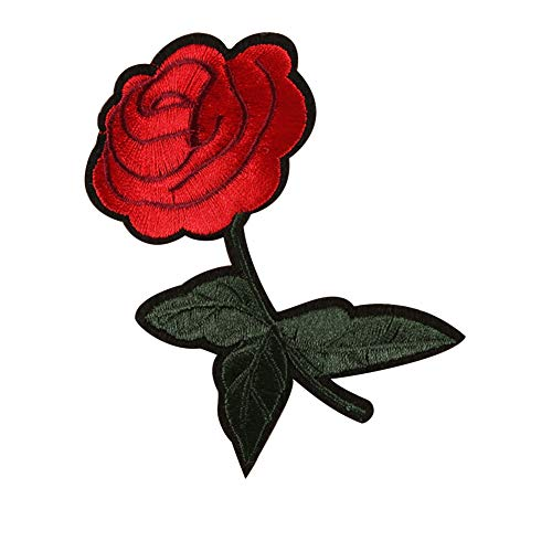 Rose Flower Sew Badge Iron on Embroidery Patches Bag Jeans Applique Set Craft -