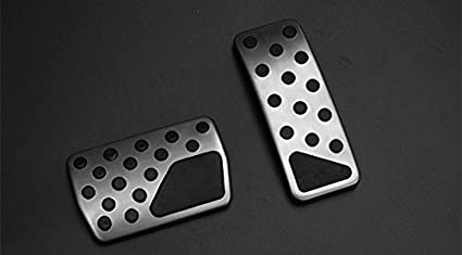 at Foot Pedal Gas Fuel Brake Pedal Cover 2pcs for Dodge Journey 2013-2015