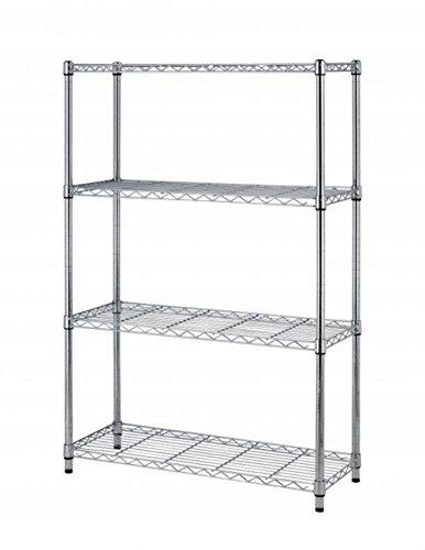 "36""x14""x54"" 4 Tier Layer Shelf Adjustable Steel Wire Metal Shelving Rack Chrome Finish #441"