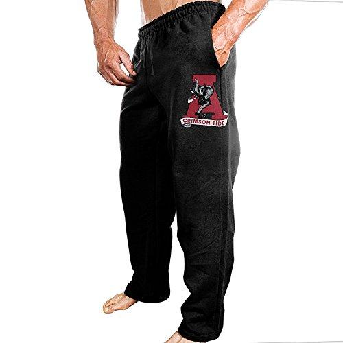 CARJML Men's University Of Alabama Crimson Tide Jersey Pant Black - University Alabama Of Mall