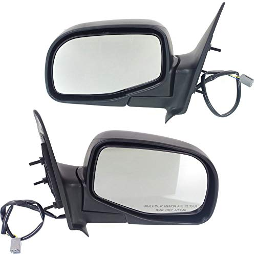 Power Mirror compatible with Ford Ranger 93-05 Right and Left Side Manual Folding Non-Heated Textured Black