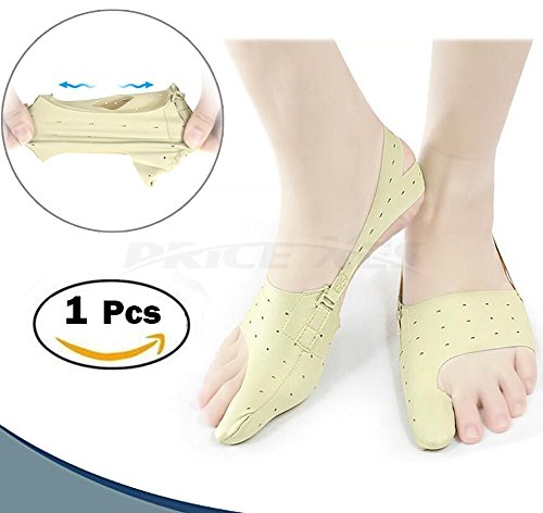 Bunion Corrector Relief Protector Sleeves, w/3 Hole Adjustable Slim Toe Straighteners Separators Corrector Brace 24h Day Night Splints Treat Pain Hallux Valgus Hammer Toe Joint Easy Wear in Shoes (S) -